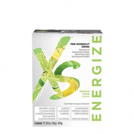 Amway Pre-Workout Drink Citrom-zöldcitrom ízű XS™  15 tasak x 30 g / 450 g