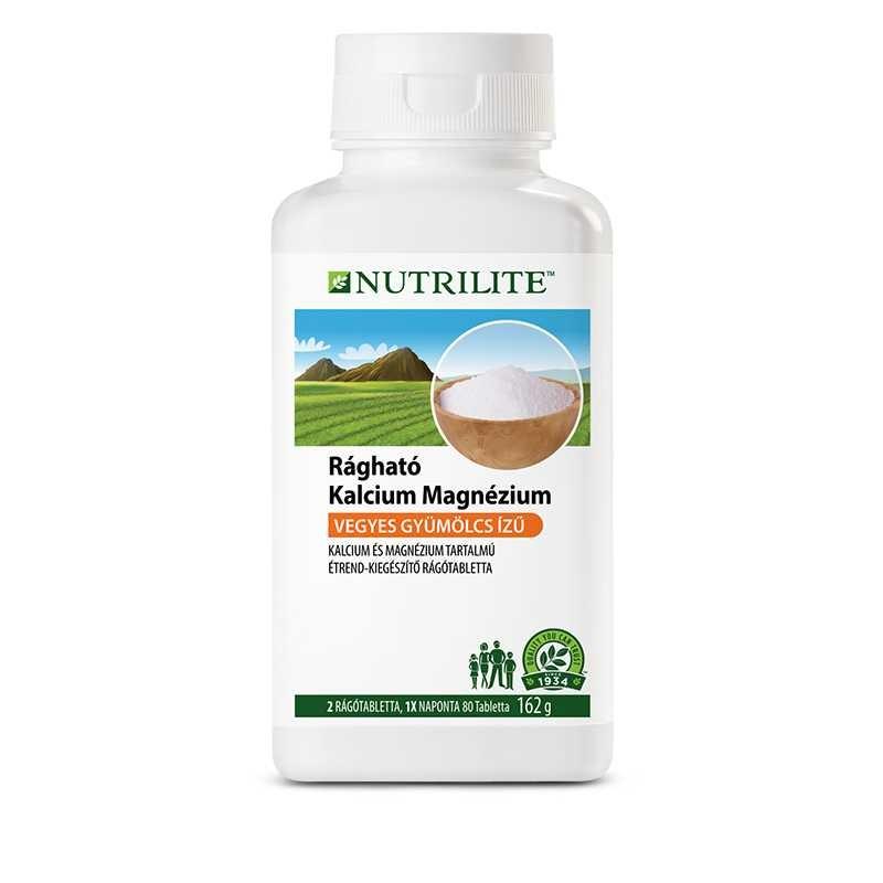 Amway Rágható kalcium-magnézium NUTRILITE™ 80 tabletta