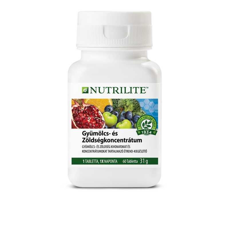 Amway Gyümölcs- és zöldségkoncentrátum NUTRILITE™  60 tabletta