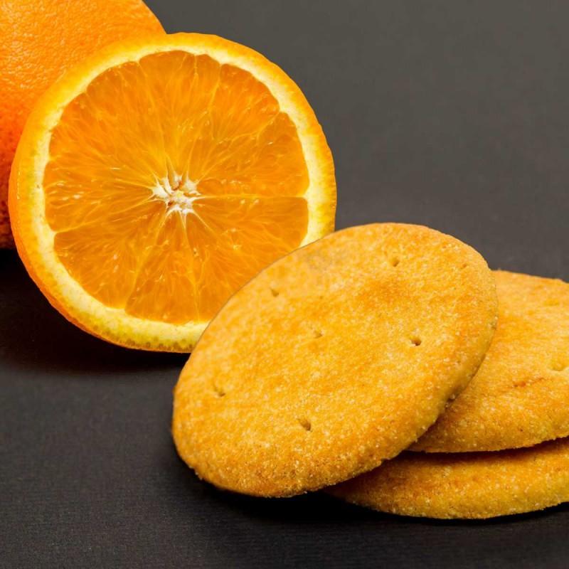 Keksz kandírozott narancshéj darabokkal 38g