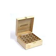 Logo Engraved Wooden Box Holds 25 15 ml oils